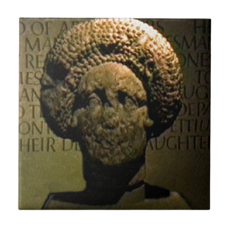Bath England 1986 Roman Woman Statue1 snap-17383 j Small Square Tile