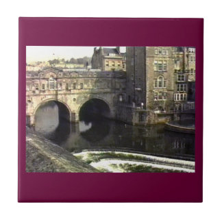 Bath England 1986 snap-11409a jGibney The MUSEUM Z Small Square Tile