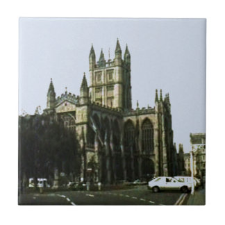 Bath England 1986 snap-11510art1 jGibney The MUSEU Small Square Tile