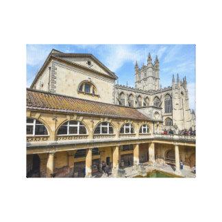 Bath England - Roman Baths Canvas Print