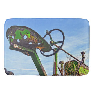 Bath Mat Antique Green Tractor Seat