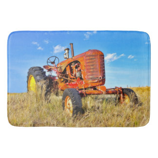 Bath Mat Antique Orange Tractor