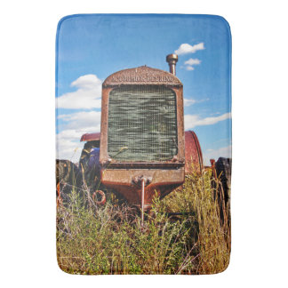 Bath Mat Antique Red Tractor