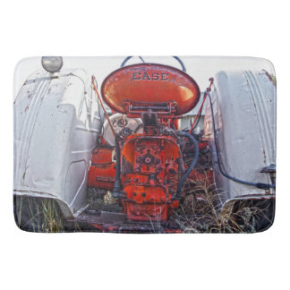 Bath Mat Antique Tractor Red