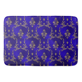 Bath Mat-Blue & Gold Bath Mat