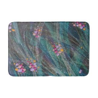 "Bath Mat - ""Colored Bubbles On Seaweed"" Bath Mats"