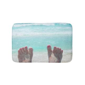 Bath Mat, Feet, Ocean Waves Bath Mat