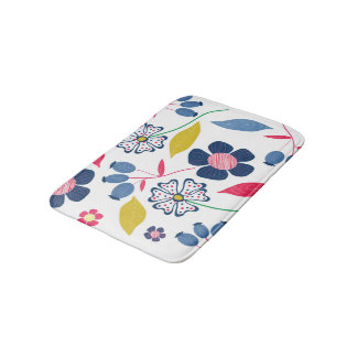Bath Mat Floral Design