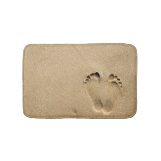 Bath Mat - Footprint in the sand