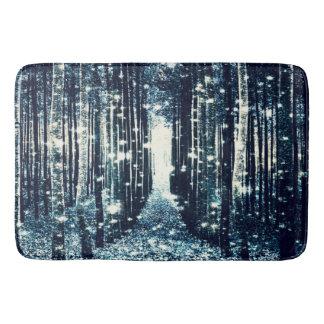 Bath Mat : Magical Forest Teal Gray Elegance Bath Mats