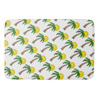 Bath Mat/Palm Trees and Sun Bath Mats