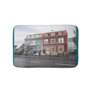 Bath Mat With Colourful Buildings Picture