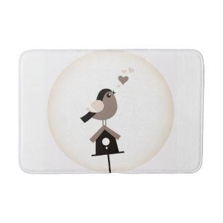 Bath mat with Little bird Bath Mats