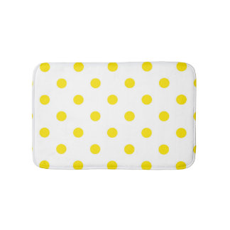 Bath mat : with Yellow dots