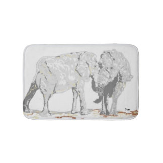Bath Mats/ Elephants Bath Mat