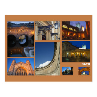 Bath multi-image postcard