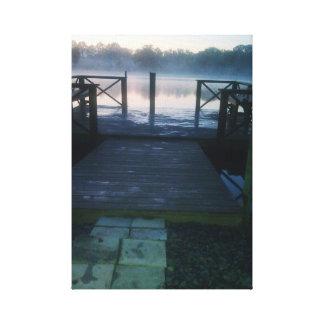 Bath pier canvas print