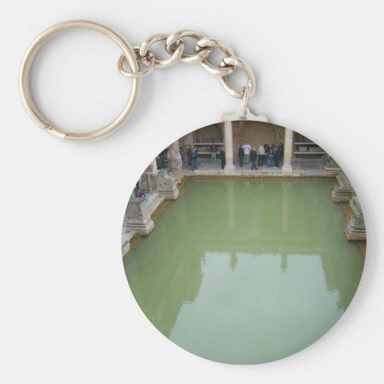 bath roman baths basic round button key ring