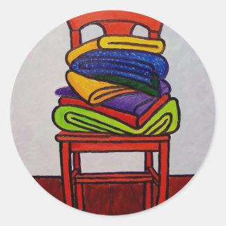 Bath Room Chair Round Sticker
