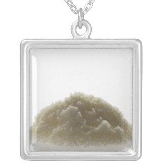 Bath Salt Silver Plated Necklace