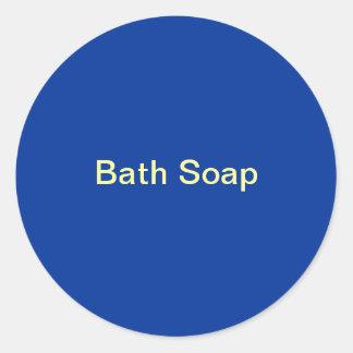Bath Soap labels Classic Round Sticker