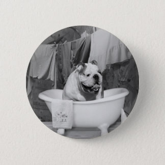 Bath time big fellow 6 cm round badge