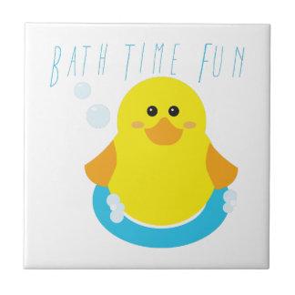 Bath Time Fun Small Square Tile