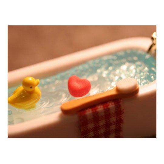 Bath Time Love Postcard