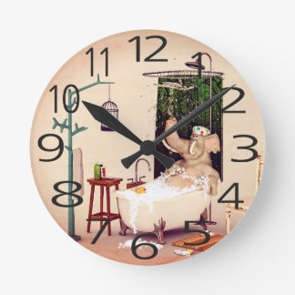 Bath Time Round Clock