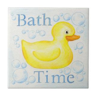 Bath Time Rubber Ducky tile
