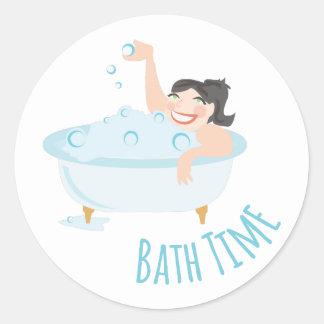Bath Time Round Sticker