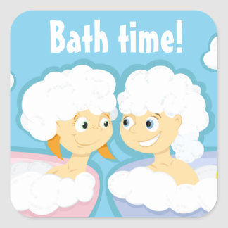Bath time! sticker (customizable)
