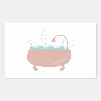 Bath Tub Rectangular Sticker