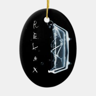 BATH TUB X-RAY VISION SKELETON - BLUE ORNAMENT