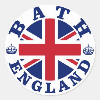 Bath Vintage UK Design Classic Round Sticker