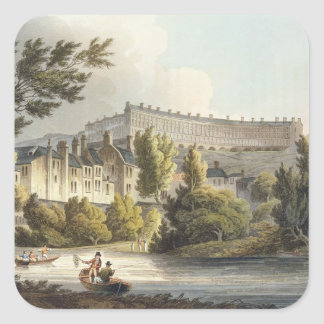 Bath Wick Ferry, from 'Bath Illustrated by a Serie Square Sticker