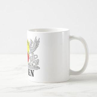 Bathe coats of arms with writing bathing mugs