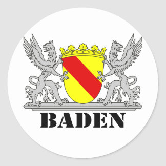 Bathe coats of arms with writing bathing round sticker