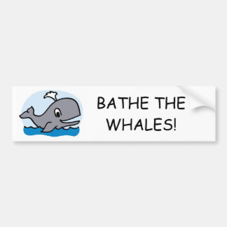 Bathe The Whales Car Bumper Sticker