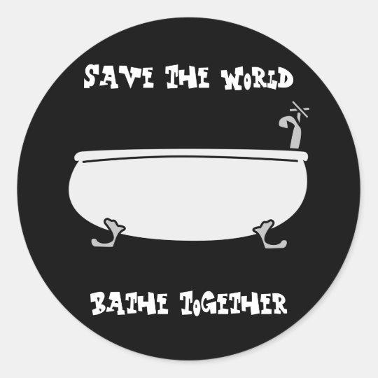 Bathe Together Sticker