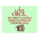Bathed In Orc Blood Post Cards
