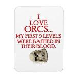 Bathed In Orc Blood Vinyl Magnet