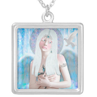 Bathed Squared Great necklace in Silver