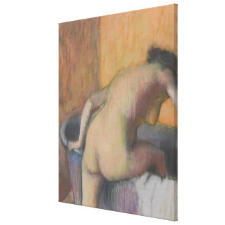 Bather Stepping into a Tub Canvas Print
