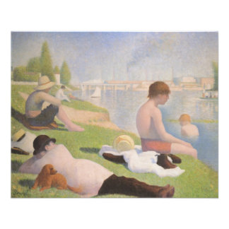 Bathers at Asnieres by Georges Seurat 11.5 Cm X 14 Cm Flyer