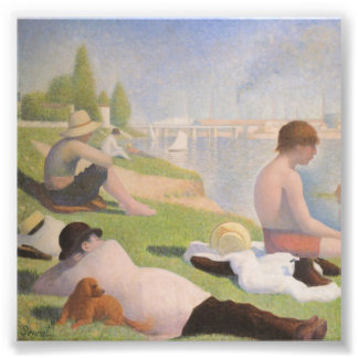 Bathers at Asnieres by Georges Seurat Photo Art