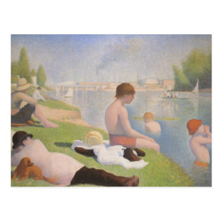 Bathers at Asnieres by Georges Seurat Postcard