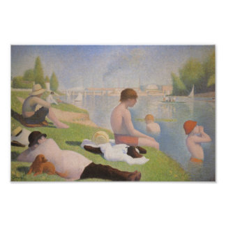 Bathers at Asnieres by Georges Seurat Poster