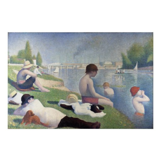 Bathers at Asnieres, Georges Seurat Poster