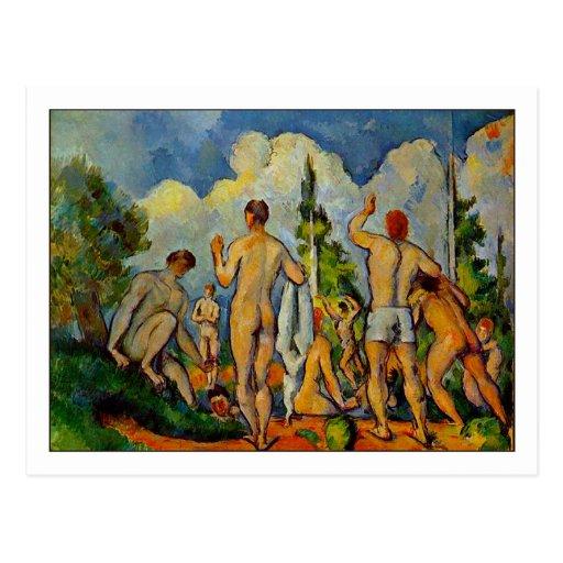 Bathers by Paul Cezanne Postcards